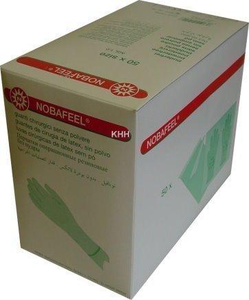 50 Paar sterile OP Handschuhe Latex Einmalhandschuhe PF Gr. 6,5