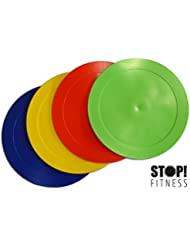 STOP! Fitness Lot de 4 disques de marquage au sol colorés