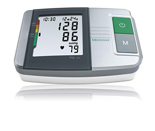 Medisana 51152   Tensiómetro de brazo MTS  con función semáforo  color plateado  blanco y negro