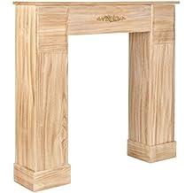 Ts Ideen Deko Kamin Attrappe Aus Holz Kaminkonsole Kaminumrandung  Landhausstil In Hellbraun 106 X 98