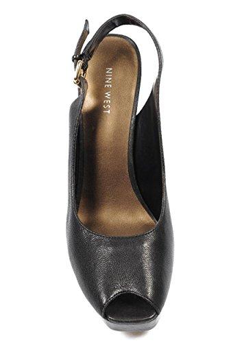 NINE WEST - Fionda Indietro Sandali Donna NWUNIDA BLACK Tacco: 12.5 cm Nero