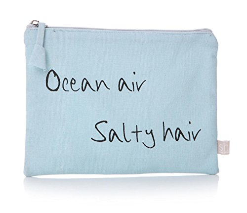 Junction 18 Lisa Buckridge Coastal Collection Sky Blue Wash Trousse de Maquillage de Voyage – Ocean Air Salty Hair