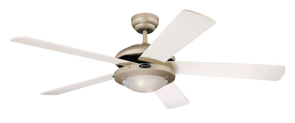 Westinghouse Ceiling Fans 78182 Comet One-Light 132 cm Five-Blade Indoor Ceiling Fan, Titanium Finish with Opal Frosted…
