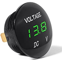 XCSOURCE universale display digitale voltmetro impermeabile Voltage Meter LED verde per DC 12V-24V Moto Auto Car Truck BI314