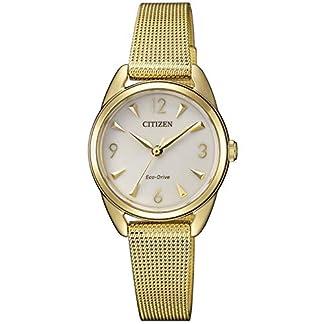 CITIZEN Reloj Analógico para Mujer de Cuarzo con Correa en Acero Inoxidable EM0687-89P