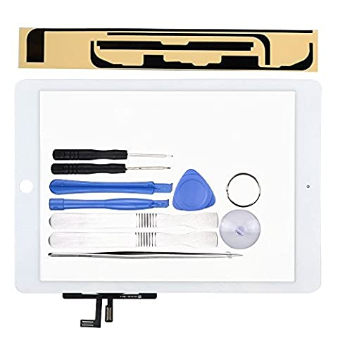 LL TRADER For iPad Air 1st Gen White Touch Screen / Digitizer Front Panel Glass Replacement with Tools and Adhesive