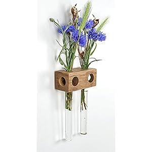 Fenstervase Eiche 2er Blumenvase