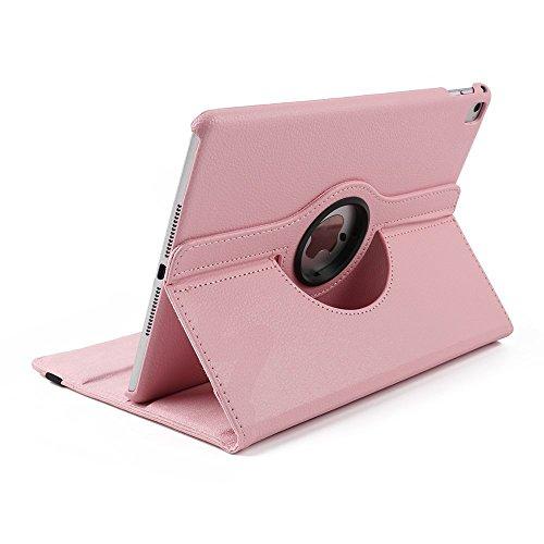 Preisvergleich Produktbild Tasche Hülle iPad Mini 4 , elecfan® 360°Grad Drehung Hülle für iPad mini 4 Ledertasche lederhülle Case Smart Cover Tasche Flip Case Cover mit Auto Wake up und Standfunktion für iPad mini 4 (iPad Mini 4, Rosa)