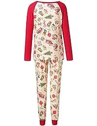 FRAUIT Familiares Ropa de Dormir Traje a Juego de Navidad Mujer Hombre Bebé Niño Niña de Pijamas Impresión del Caramelo del árbol de Tops Blusa Pantalones Pijamas de la Familia Conjunto de Navidad