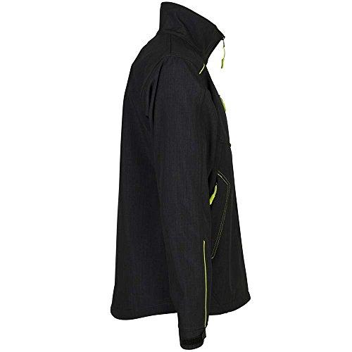 Planam Neon Softshell Jacke grau/grün