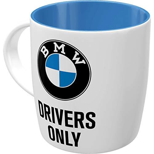 Nostalgic-Art 43051 - BMW - Drivers Only , Retro Tasse mit Spruch , Vintage Kaffee-Becher , Geschenk-Tasse für BMW-Fahrer