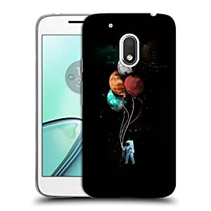 Snoogg Astronaut With Balloons Designer Protective Back Case Cover For MOTOROLA MOTO G4 PLAY