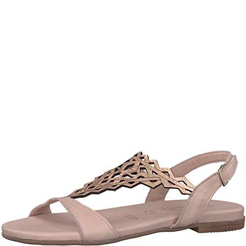 Tamaris 1-1-28126-20 Damen Sandale, Sandalette, Sommerschuhe für Die Modebewusste Frau Rosa (Rose/Rose Gold), EU 40