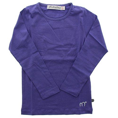 Minymo Mädchen T-Shirt Gr. 140 cm, deep purple (Schickes Mädchen Shirt)