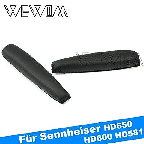 WEWOM Ersatz Bügelpolster für Sennheiser PX100 PX200 Schwarz