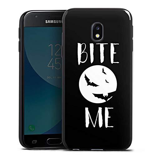 DeinDesign Slim Case Silikon Hülle Ultra Dünn Schutzhülle kompatibel mit Samsung Galaxy J3 2017 Halloween Fledermaus Vampire