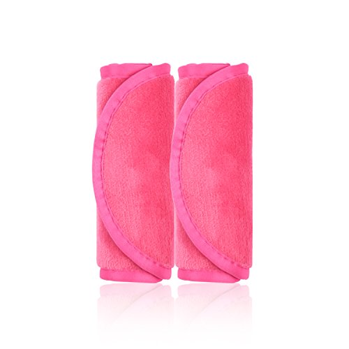 Make-Up Entferner Tuch, 2er Set Abschminktücher, Abschminken und Reinigen nur mit Wasser ohne Chemie - hypoallergen & waschbar & wiederverwendbar Mikrofaser Gesichtsreinigungstuch (Rosenrot) - Sieht Das Augen Make-up Entferner
