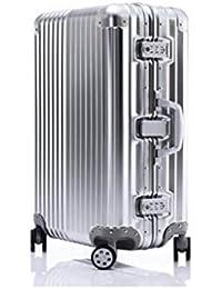 0383325ec Equipaje, Maleta Ultraligera Completa Transparente Embarque Universal en  Ruedas The Chassis Trolley Case Password Box Silver (Color…