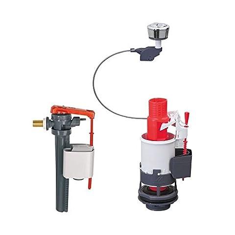 Chasse d'eau wc complète à mécanisme double poussoir - EQUATION