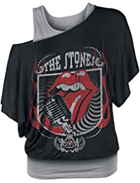 Rolling Stones The 40 Licks Camiseta Mujer Negro/Gris