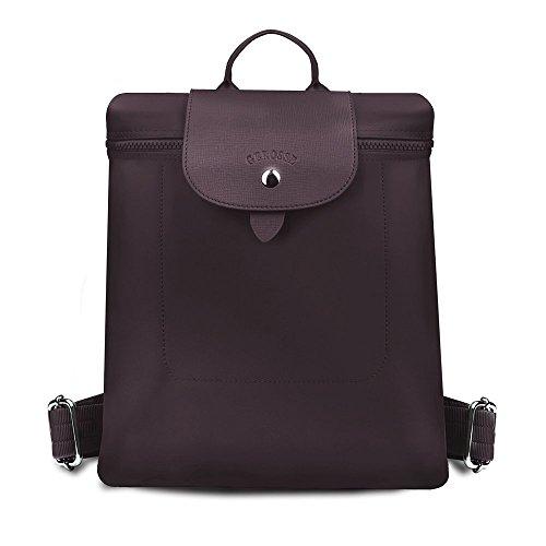 3cda5dd936b Gerosse Fashion Nylon Backpack Purse Travel for Women, Designer School  Backpacks Waterproof Bookbags (Coffee)