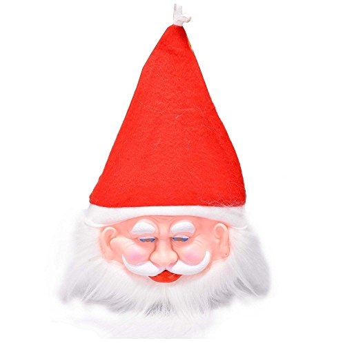 SBD Santa Claus Rubber Mask With Attached Cap