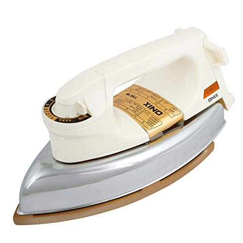 Onix Turbo 750 Watts Heavy Weight Dry Iron Box (Cream and Golden)