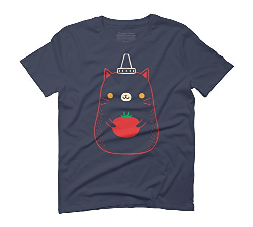tomato catchup Men's Graphic T-Shirt - Design By Humans Navy