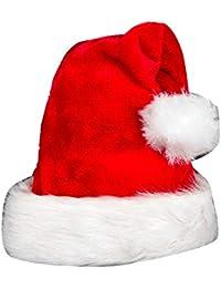 ac56b209123 LaoZanA Unisex Adulto Navidad Sombrero Gorro Navideño Papá Noel(Rojo/Un ...