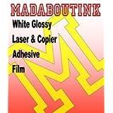 Blanco Brillante Vinilo Laser Y Copiadora Película De La Etiqueta Engomada Adhesiva 20 A4 Láminas
