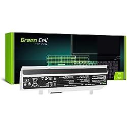 Green Cell® Standard Série A32-1015 Batterie pour ASUS Eee PC 1015 1015BX 1015P 1015PN 1215 1215B 1215N 1011PX 1016 VX6 Ordinateur PC Portable (6 Cellules 4400mAh 10.8V Blanc)