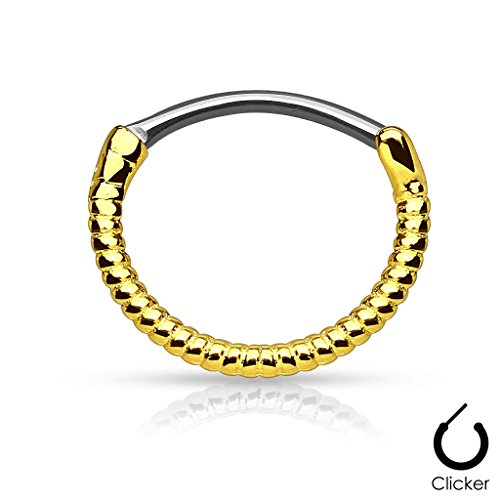 Twisted Rooped Linie 316L Chirurgenstahl Runde Septum Clicker