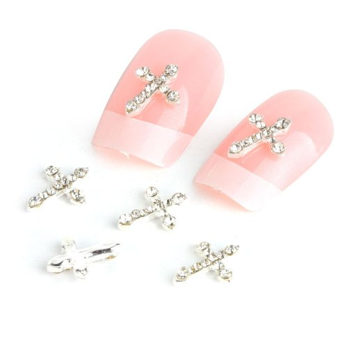 Autocollant De Decoration Pour Ongles Yesurprise Nail Art Alliage 10Pcs Cross Shape