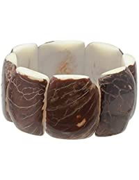 Tagua (vegetable ivory) elasticated natural chunky bracelet - Fair trade and handmade in Ecuador