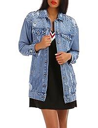 La Modeuse Veste en jean longue délavée coupe oversized