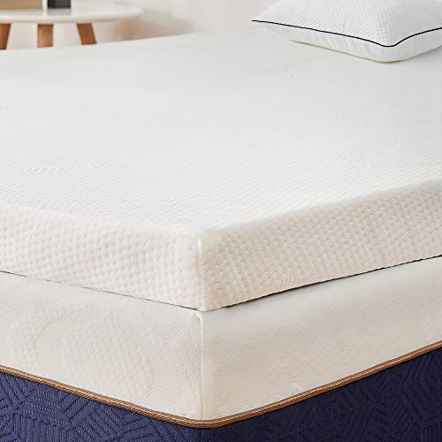 BedStory Topper Memory Foam Matrimoniale, Correttore Materasso per Letto, Materasso Topper in schiuma infusa lavanda da 5 cm, topper viscoelastico con CertiPUR-US, design ventilato-160 x 200 cm