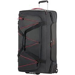 American Tourister Road Quest Wheeled Duffle Large Bolsa de Viaje, 79 cm, 114 Liters, Gris (Graphite/Pink)