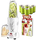 Wonderchef 400 Watt Nutri-Blend White with Free Set of 6 Glasses, Air Tight