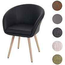 Amazon fauteuil scandinave cuir