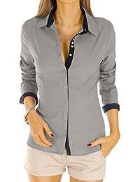 Bestyledberlin Damen Blusen gestreift, elegante Stretch Tops, Oberteile langarm t27z