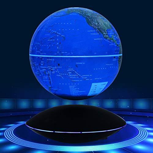 "DAMPOG Magnetic Levitation Floating Globe, 6\"" Self-Rotating Ball Anti Gravity World Map Earth for Desk Office Home Decor Kids Educatio"