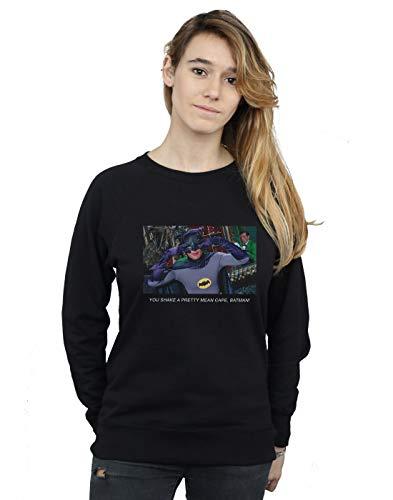 DC Comics Damen Batman TV Series Mean Cape Sweatshirt Schwarz Small