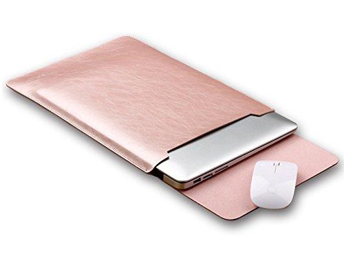 PU-Leder Laptophülle Laptop Sleeve Schutzhülle Laptoptasche Hülle Case für 11.6-15.4 Inch für macbook pro 15.4