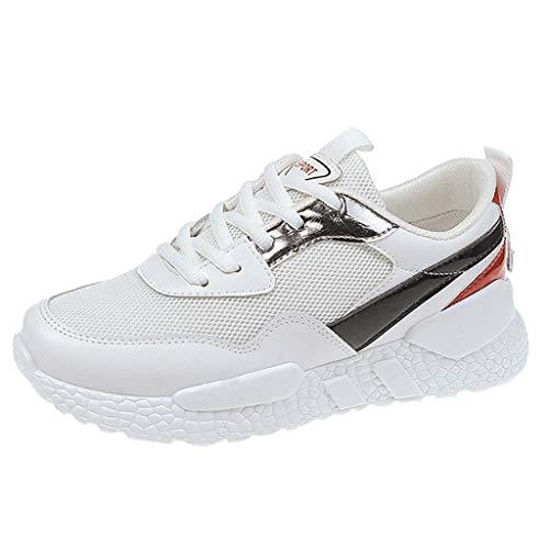 BaZhaHei Moda Sneakers Donna,Student Respirabile Scarpe Sportivo Donne Leggere Lace-up Scarpe da Corsa Casual Scarpe da Lavoro Running Fitness Shoes con Sportive All'aperto 35-40