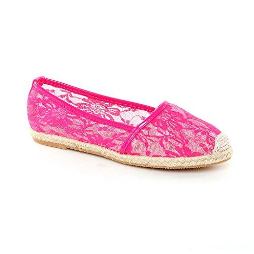 Ballerines femme flats slippers chaussures nouveau chaussures de designer Rose - Rose
