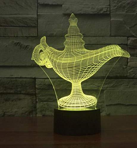 ZJFHL Bunte Acryl 3D Lampe kreative Projektion Usb Led Nachtlicht Halloween Geschenk 3d Leuchten Led Kinder Tischlampe