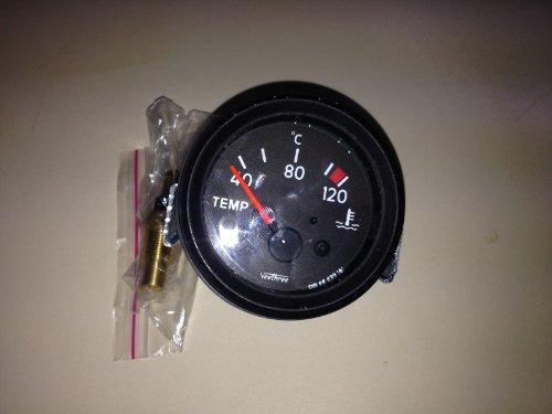 Elektronische Wassertemperaturanzeige 24V, 52 mm 120°C Instrument Motorrad Auto LKW
