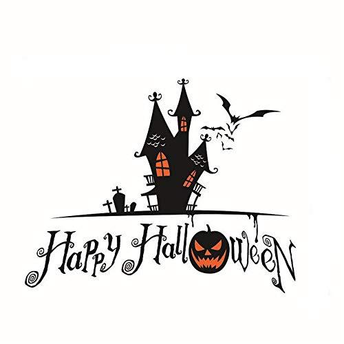 ARAYACY Halloween Kürbis Taro Wandbild/Scary Wandaufkleber Dekorative Wasserdichte Tapete/Abnehmbare Malerei,A (Halloween-kürbis Schablonen Autos)