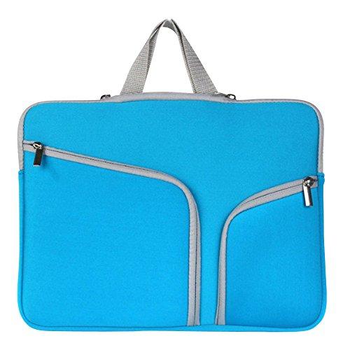 15-17 Zoll Laptoptasche Aktentaschen Handtasche Schulter tasche notebooktasche Laptop sleeve laptop hülle für Laptop Dell Alienware/Macbook/Lenovo/HP Blau