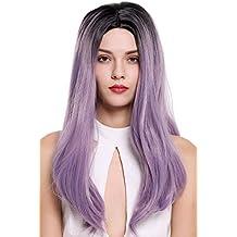 WIG ME UP ® - ZM-1791-T2403R1B peluca de mujer larga lisa raya